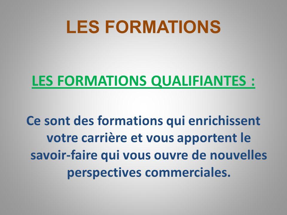 LES FORMATIONS Il existe deux types de formation : LES FORMATIONS DIPLOMANTES : Ce sont des formations à lissue desquelles vous obtenez un diplôme dEt