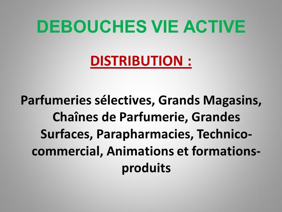 DEBOUCHES VIE ACTIVE PRESTATIONS DE SERVICES : Instituts de Beauté, Parfumerie, Hôtels de luxe, Centres de remise en forme, Ongleries, Salons de coiff