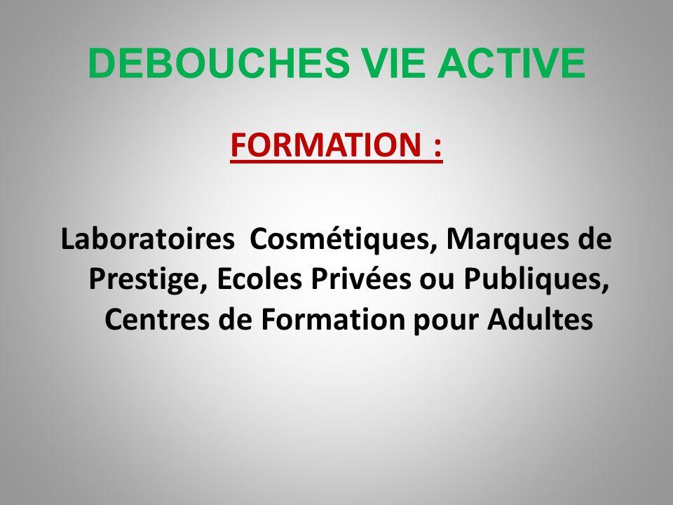 DEBOUCHES VIE ACTIVE DISTRIBUTION : Parfumeries sélectives, Grands Magasins, Chaînes de Parfumerie, Grandes Surfaces, Parapharmacies, Technico- commer