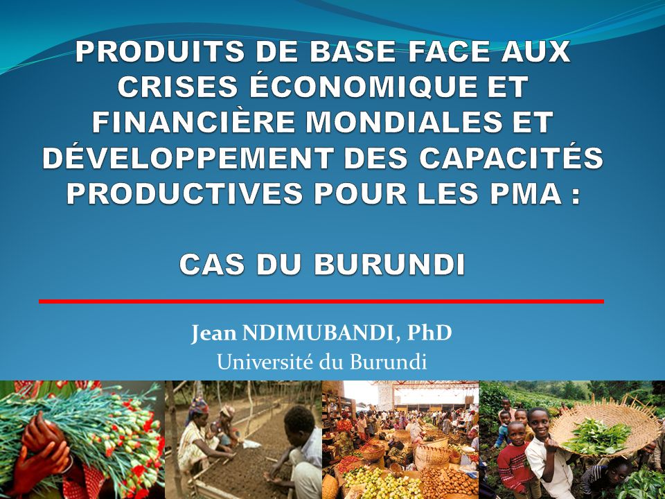Structure des principales exportations du Burundi de 1995 à 2009