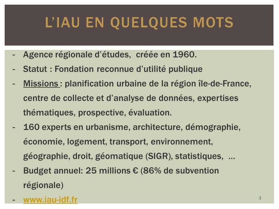 LIAU EN QUELQUES MOTS -Agence régionale détudes, créée en 1960.