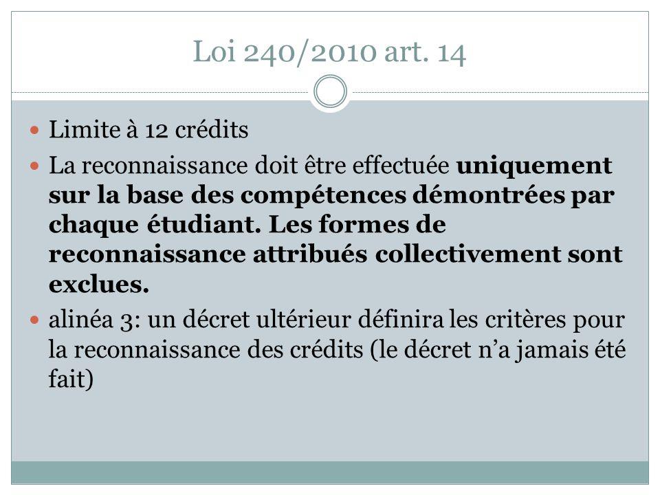 Loi 240/2010 art.