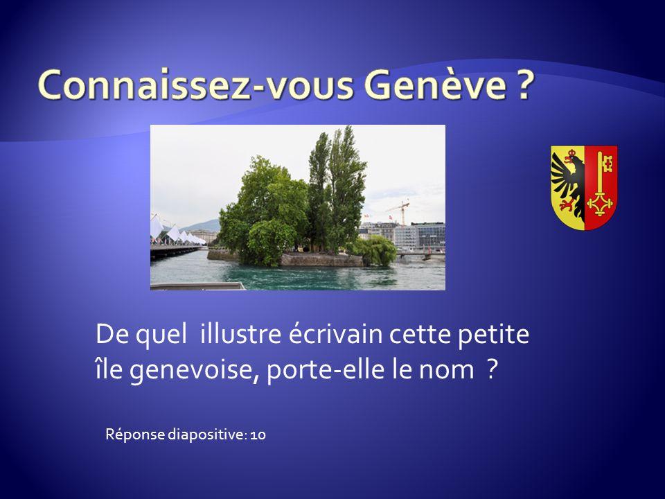 De quel illustre écrivain cette petite île genevoise, porte-elle le nom Réponse diapositive: 10