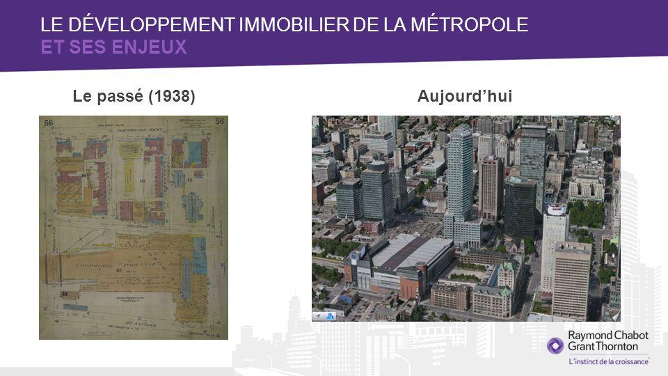LE DÉVELOPPEMENT IMMOBILIER DE LA MÉTROPOLE ET SES ENJEUX Le passé (1938)Aujourdhui
