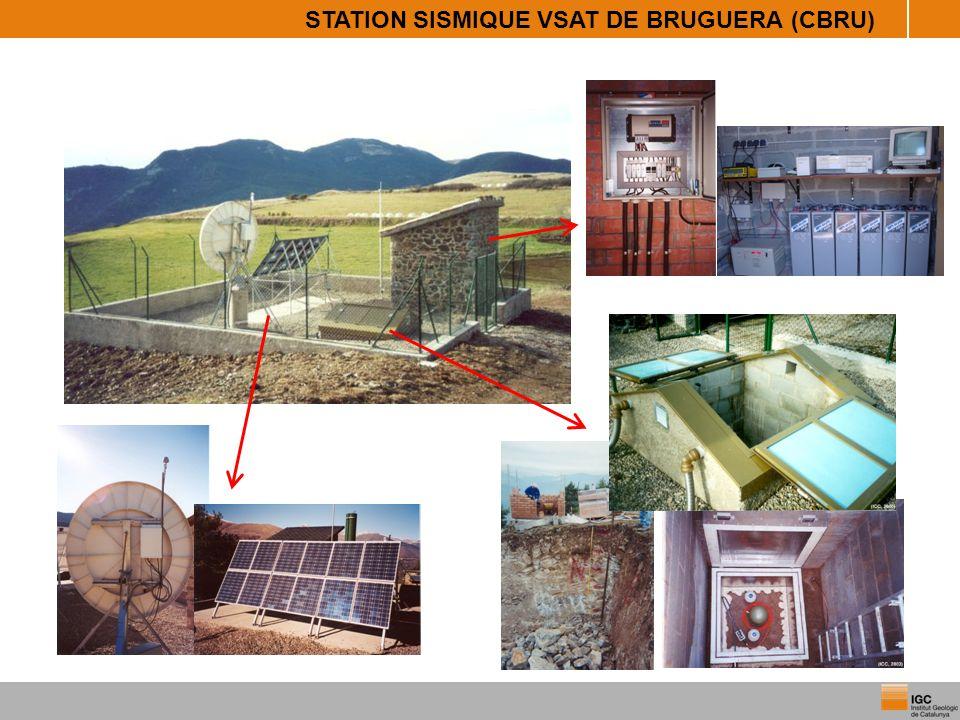 STATION SISMIQUE VSAT DE BRUGUERA (CBRU)