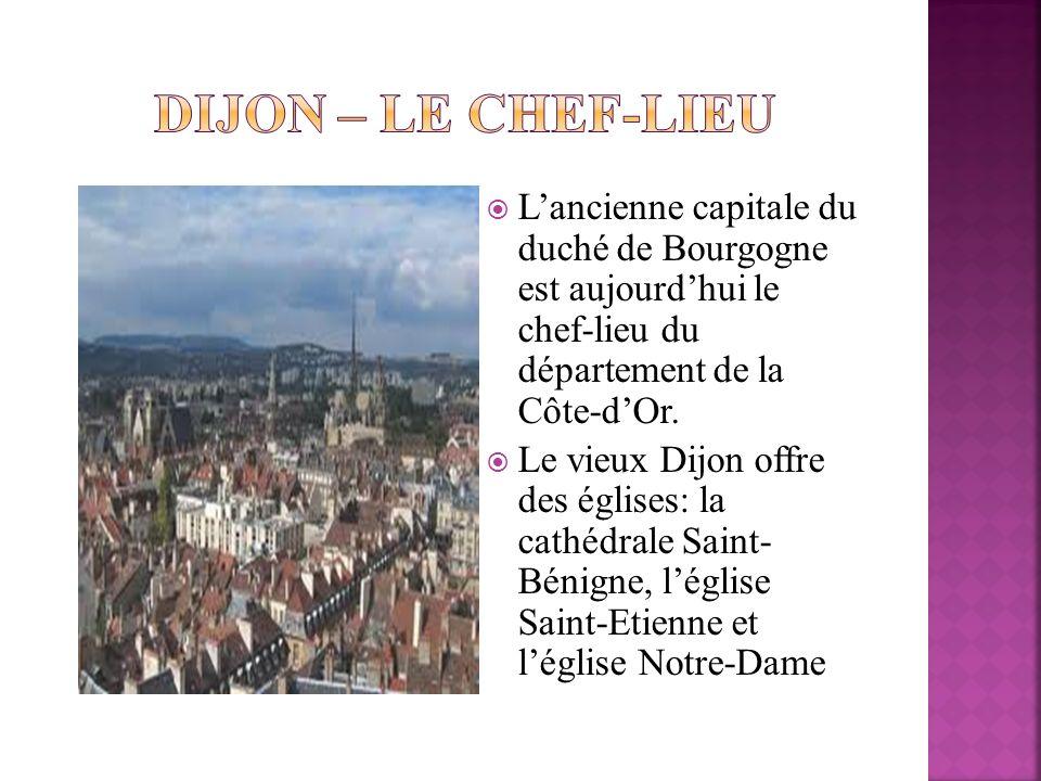 Lancienne capitale du duché de Bourgogne est aujourdhui le chef-lieu du département de la Côte-dOr. Le vieux Dijon offre des églises: la cathédrale Sa