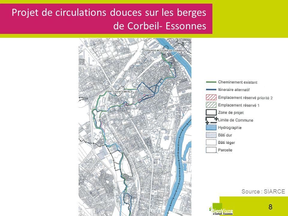 Projet de circulations douces sur les berges de Corbeil- Essonnes 8 Source : SIARCE