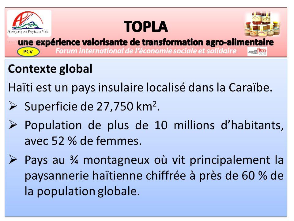 Contexte global Haïti est un pays insulaire localisé dans la Caraïbe.