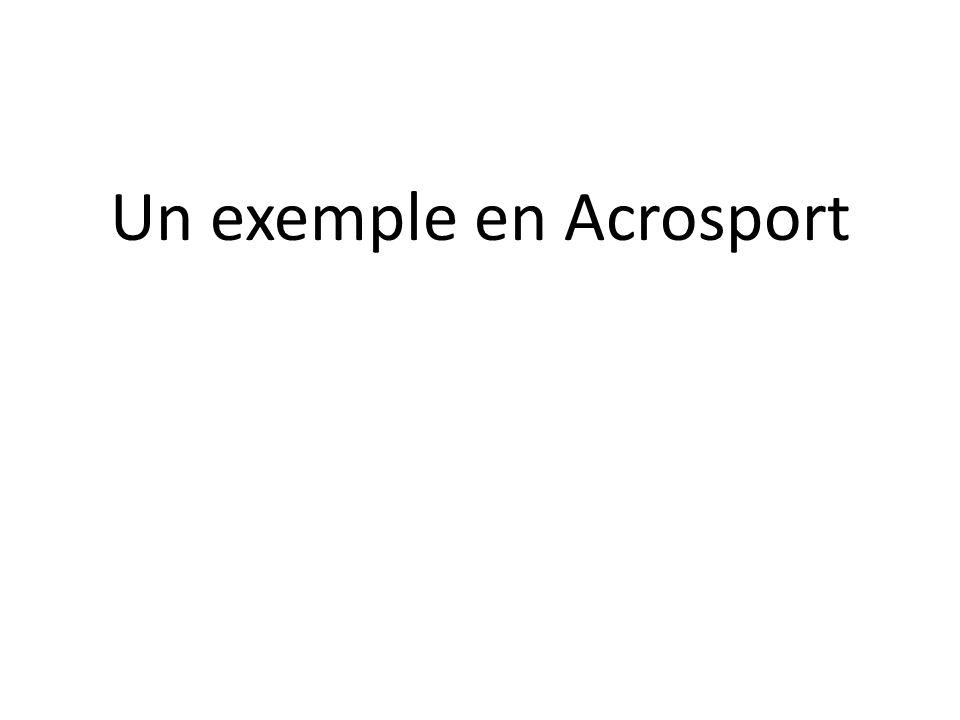 Un exemple en Acrosport
