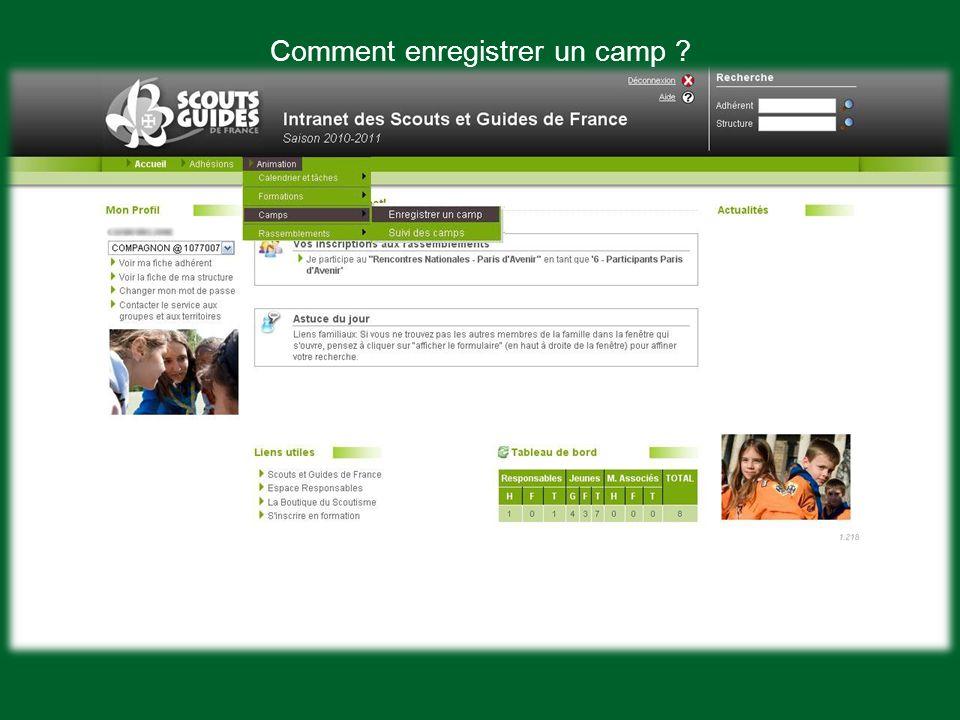 Choisis en France ou a letranger Et si cest un camp marin ou non I. Le dossier administratif