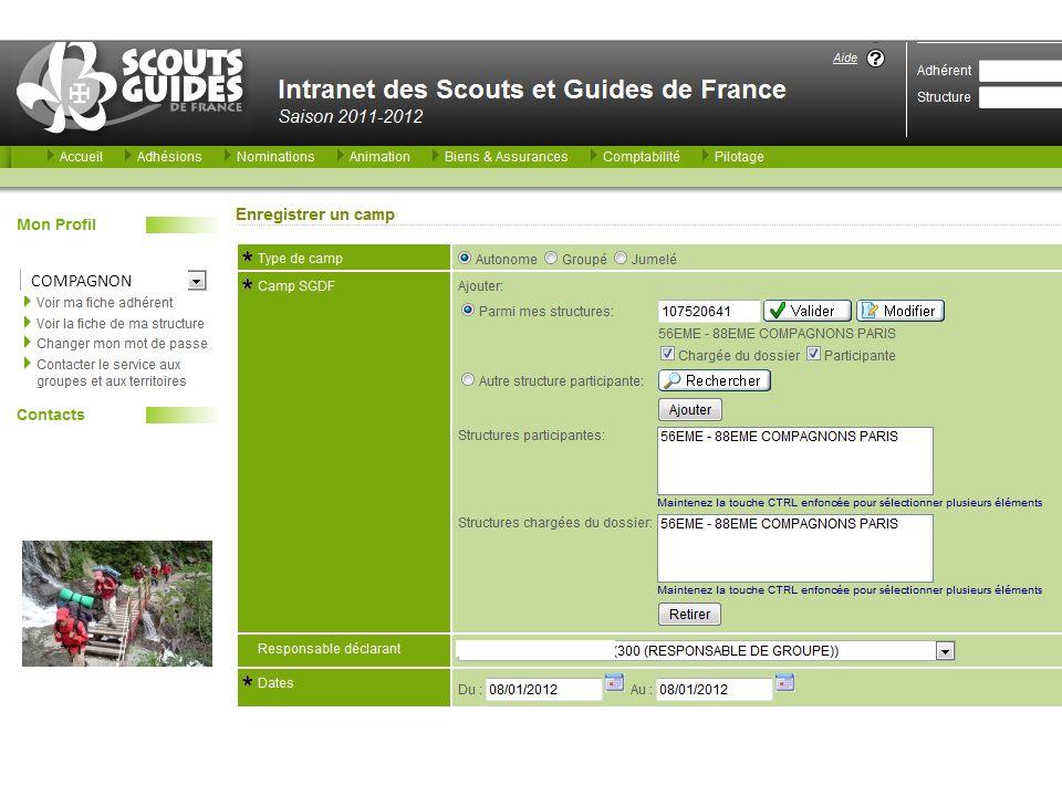 Informations de votre partenaire scout/guide