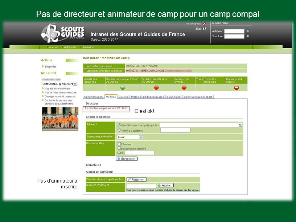 Le suivi SGdF Prêts à partir en camp! Visa du service international pour les camps a letranger