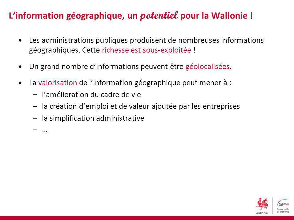 Les administrations publiques produisent de nombreuses informations géographiques.