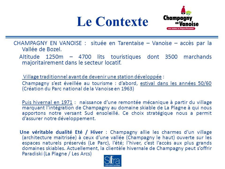 CHAMPAGNY EN VANOISE : située en Tarentaise – Vanoise – accès par la Vallée de Bozel.