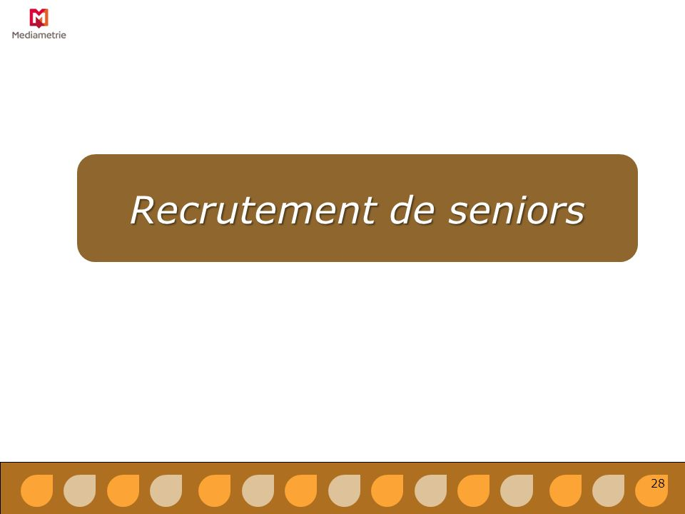 Recrutement de seniors 28