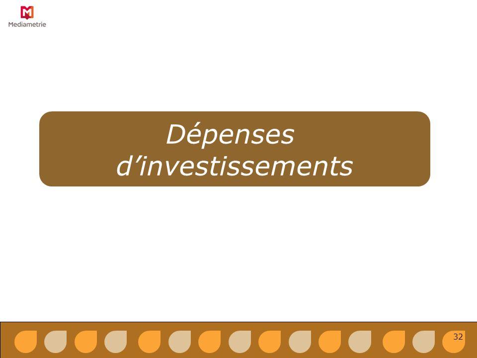 Dépenses dinvestissements 32