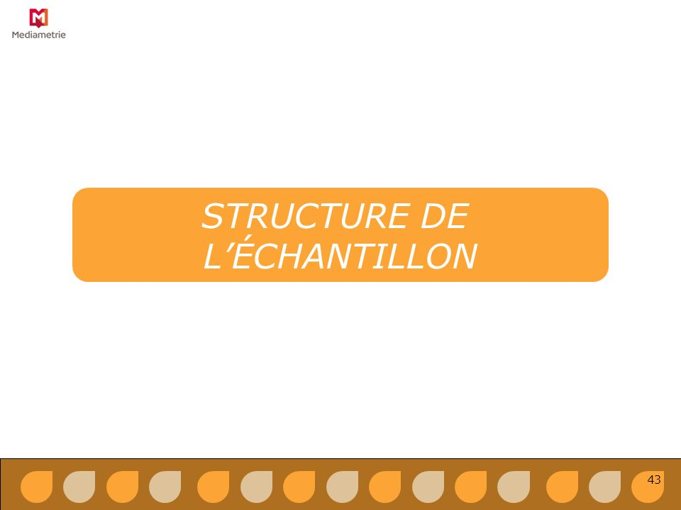 STRUCTURE DE LÉCHANTILLON 43