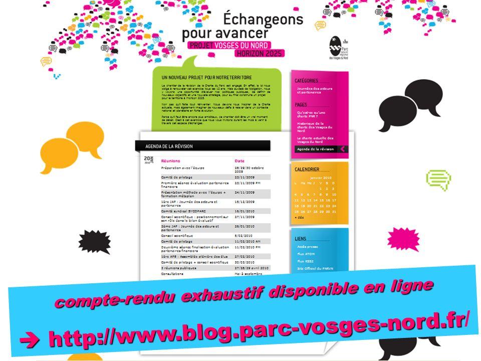 compte-rendu exhaustif disponible en ligne http://www.blog.parc-vosges-nord.fr http://www.blog.parc-vosges-nord.fr/