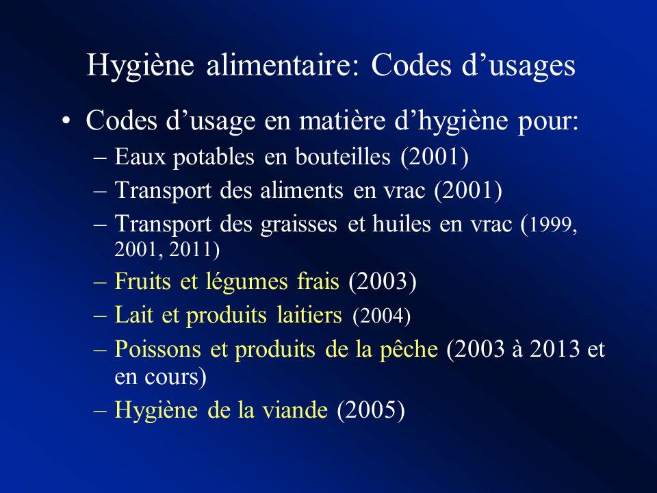 Contamination microbiologique et Hygiène alimentaire Principes généraux dhygiène alimentairePrincipes généraux dhygiène alimentaire : la base des exig