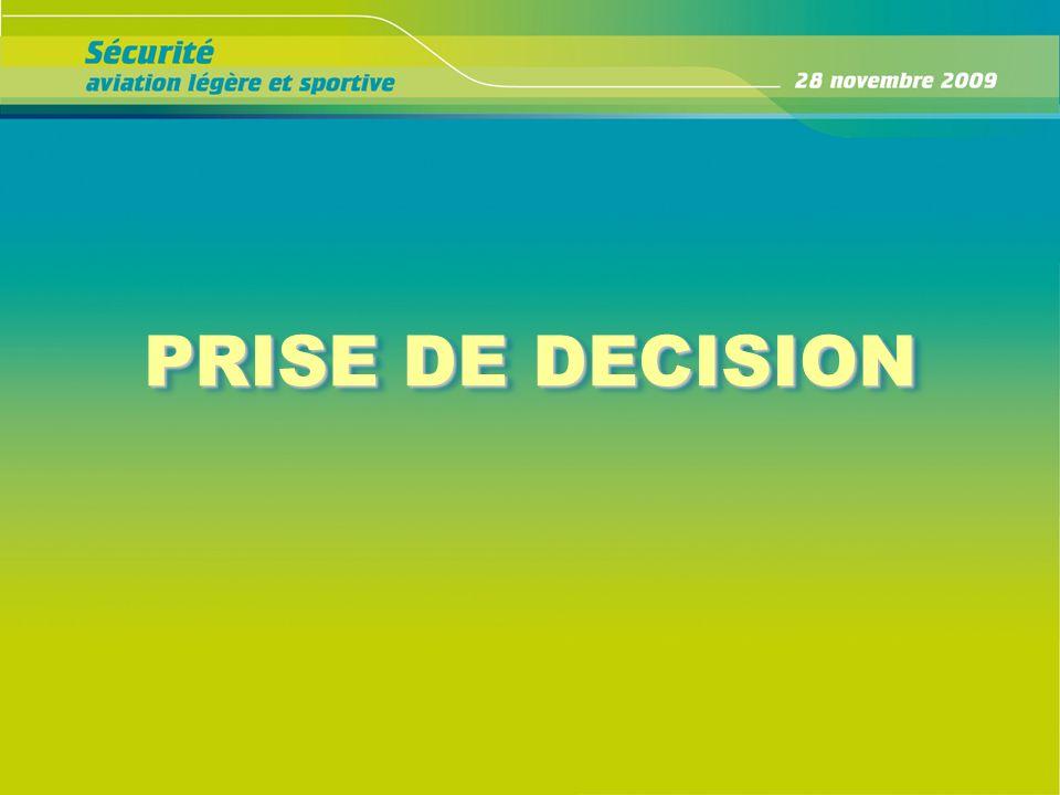 PRISE DE DECISION PRISE DE DECISION