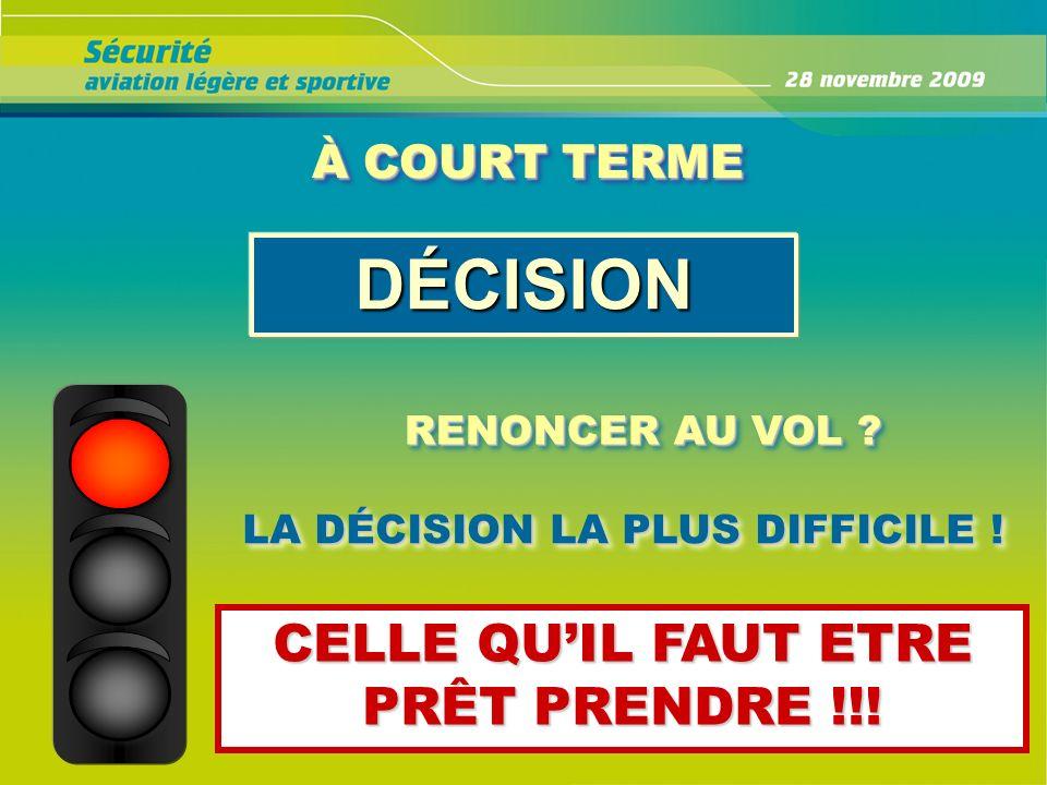 À COURT TERME DÉCISION RENONCER AU VOL ? LA DÉCISION LA PLUS DIFFICILE ! CELLE QUIL FAUT ETRE PRÊT PRENDRE !!!