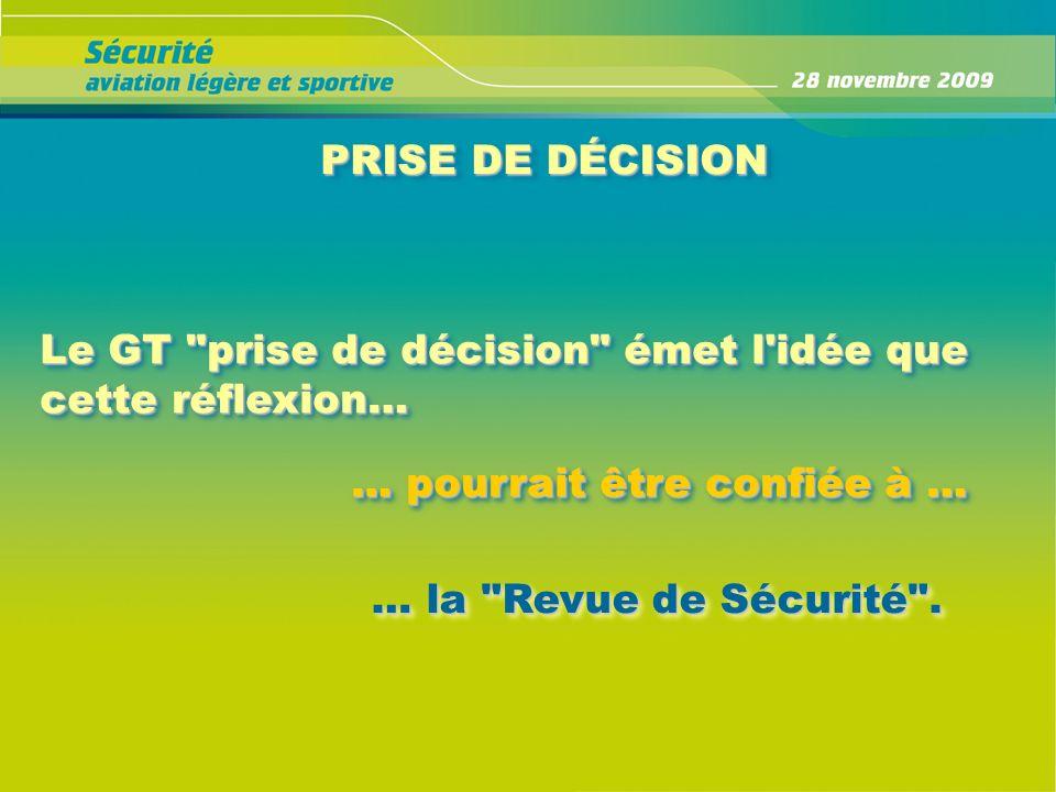 PRISE DE DÉCISION Le GT