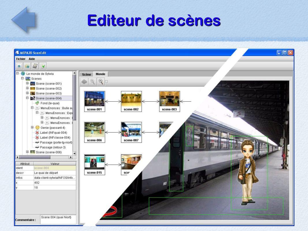 Editeur de scènes