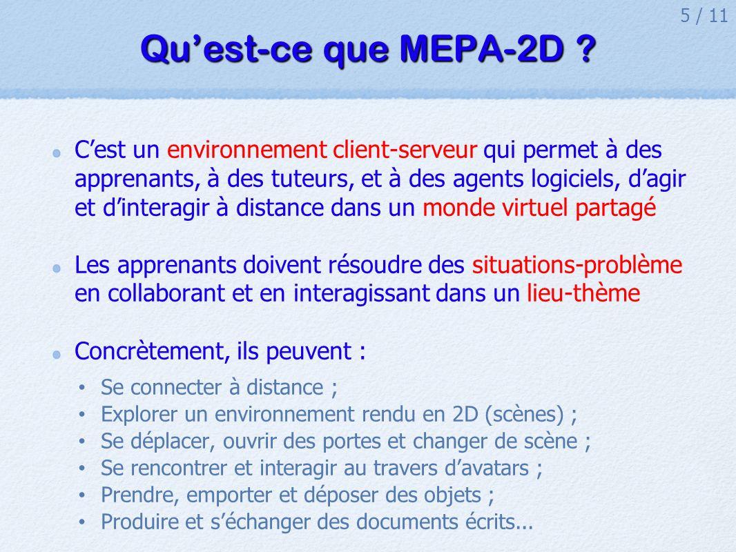 5 / 11 Quest-ce que MEPA-2D .