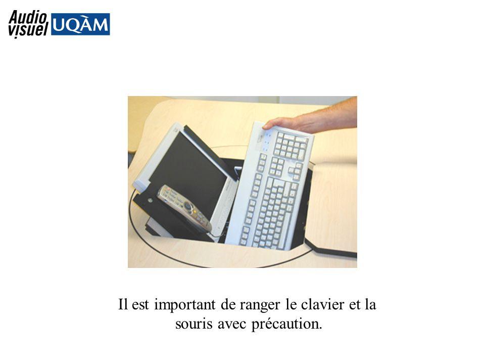 Il est important de ranger le clavier et la souris avec précaution.