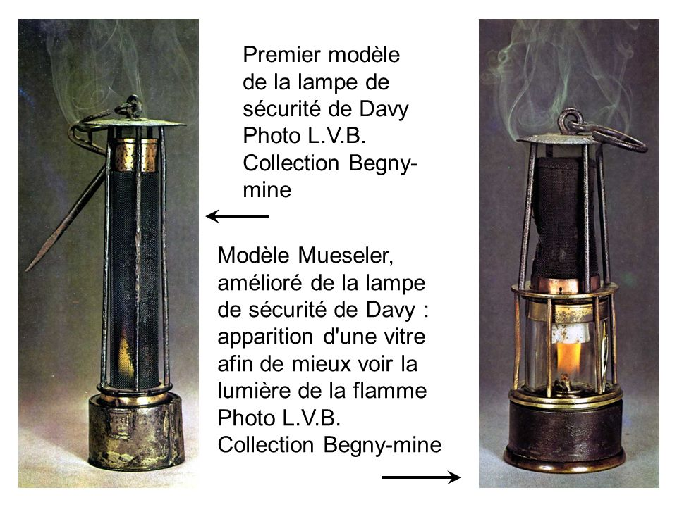 Lampe dite de Bernissart Introduction d air par le bas Flamme non protégée Avec laimable autorisation de http://users.tele disnet.be/web/c va01343/accuei l/index.html