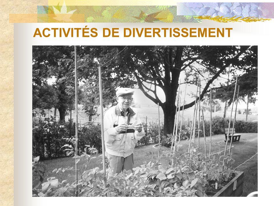 ACTIVITÉS DE DIVERTISSEMENT