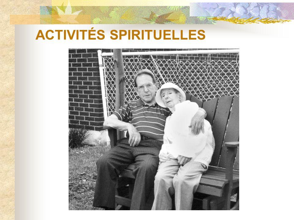 ACTIVITÉS SPIRITUELLES