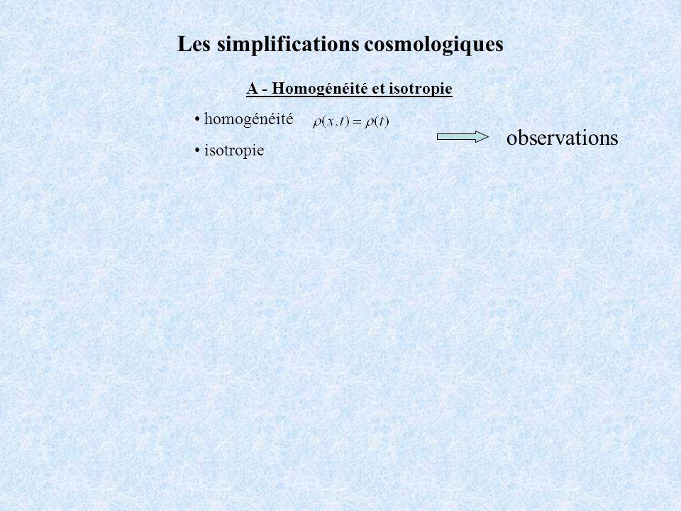 Univers sphérique de Lema î tre-Eddington (1927) courbure: +1 Matière : variables Constante cosmologique : Dynamique : expansion perpétuelle accélérée (pas de big bang) Univers hésitant de Lema î tre (1931) courbure: +1 Matière : variables Constante cosmologique : Dynamique : expansion perpétuelle décélérée puis accélérée