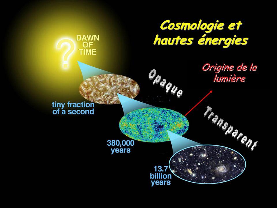 Origine de la lumière Cosmologie et hautes énergies