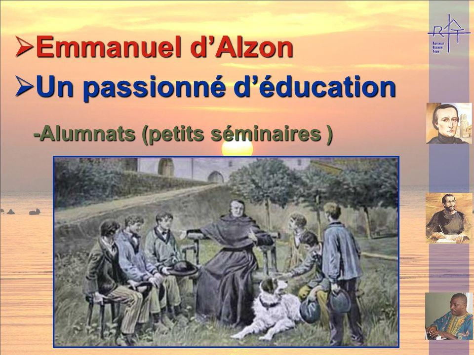 Un passionné de lÉglise Un passionné de lÉglise Emmanuel dAlzon Emmanuel dAlzon - défenseur des « droits de Dieu » -vicaire général durant 40 ans