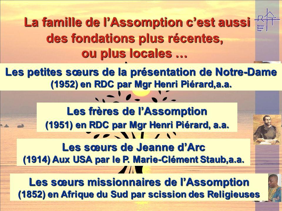 Présence dans le monde (2002): environ 160 religieuses, 21 communautés dans 11 pays Europe : France, Belgique, Italie Amérique : Argentine. Afrique :