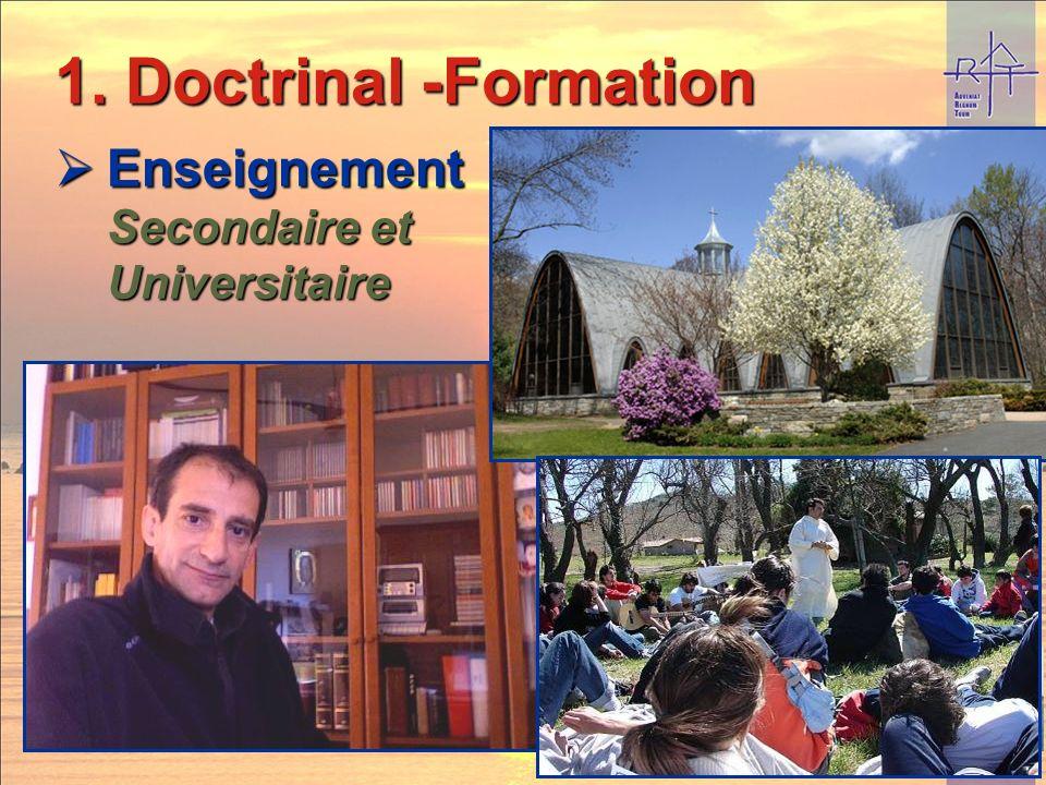 3 axes : 1. Doctrinal 4- Oeuvres 2. Social 3. Œcuménique