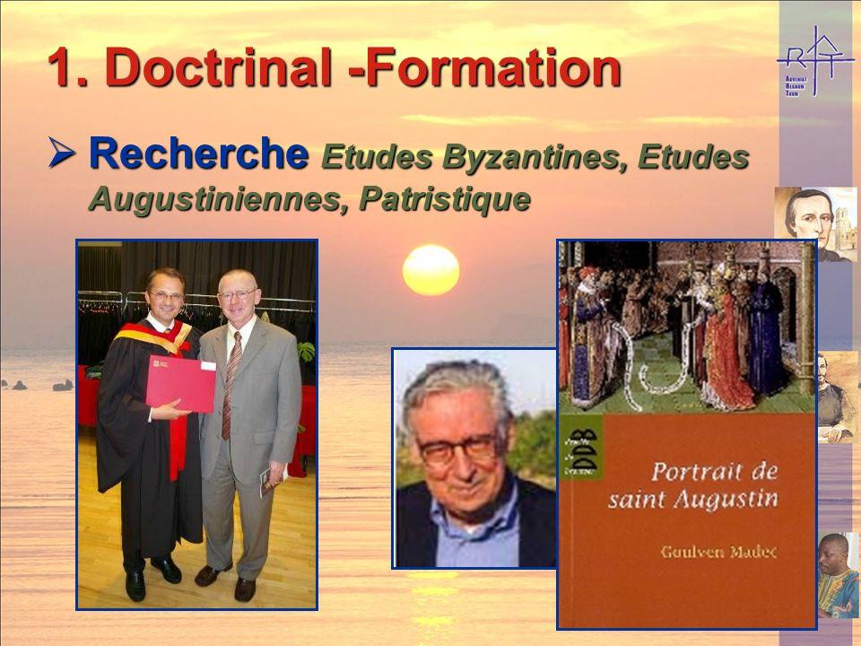 1. Doctrinal -Formation Enseignement Secondaire et Universitaire Enseignement Secondaire et Universitaire