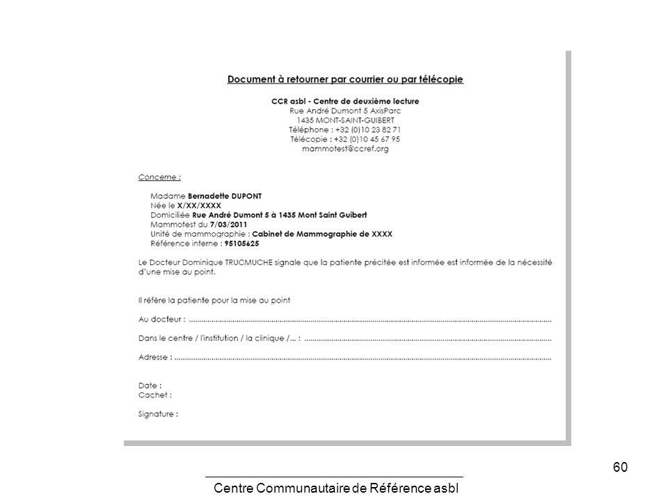 60 Centre Communautaire de Référence asbl