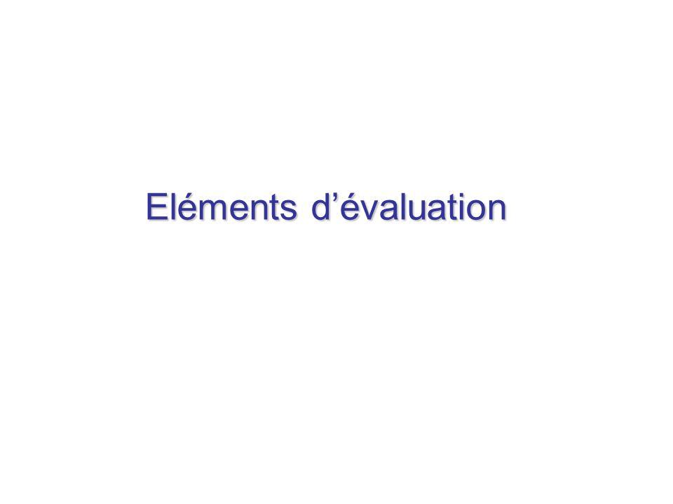 Eléments dévaluation