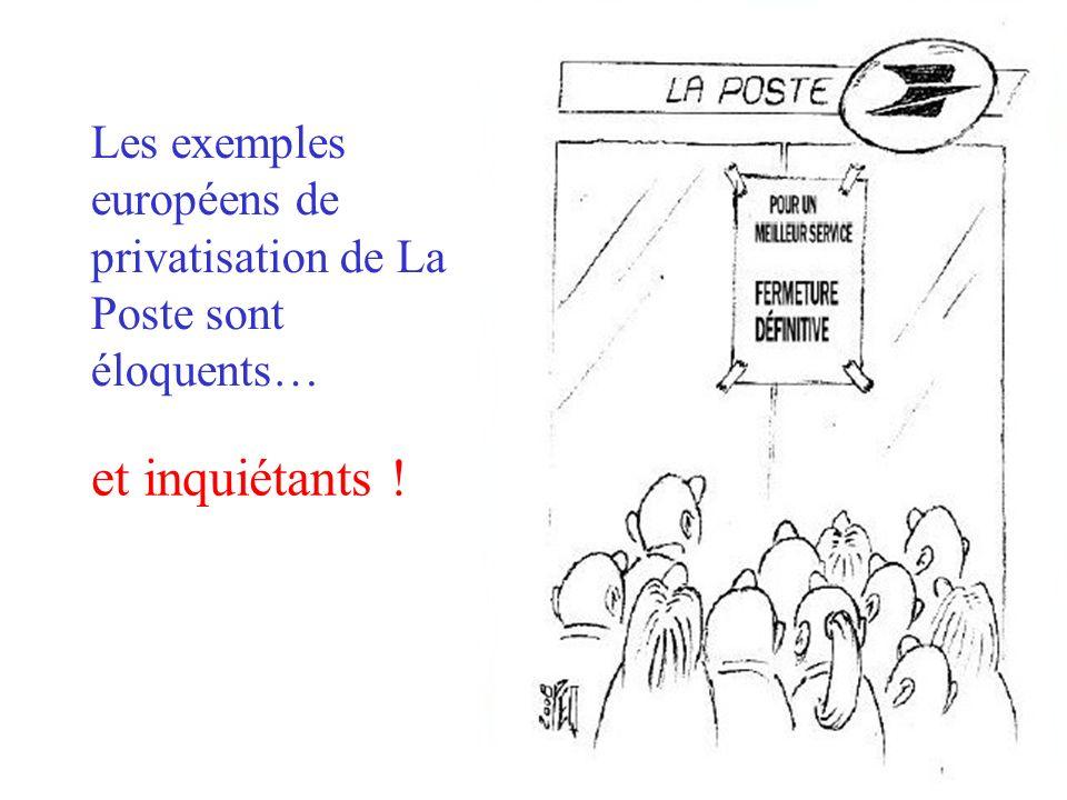 Les exemples européens de privatisation de La Poste sont éloquents… et inquiétants !