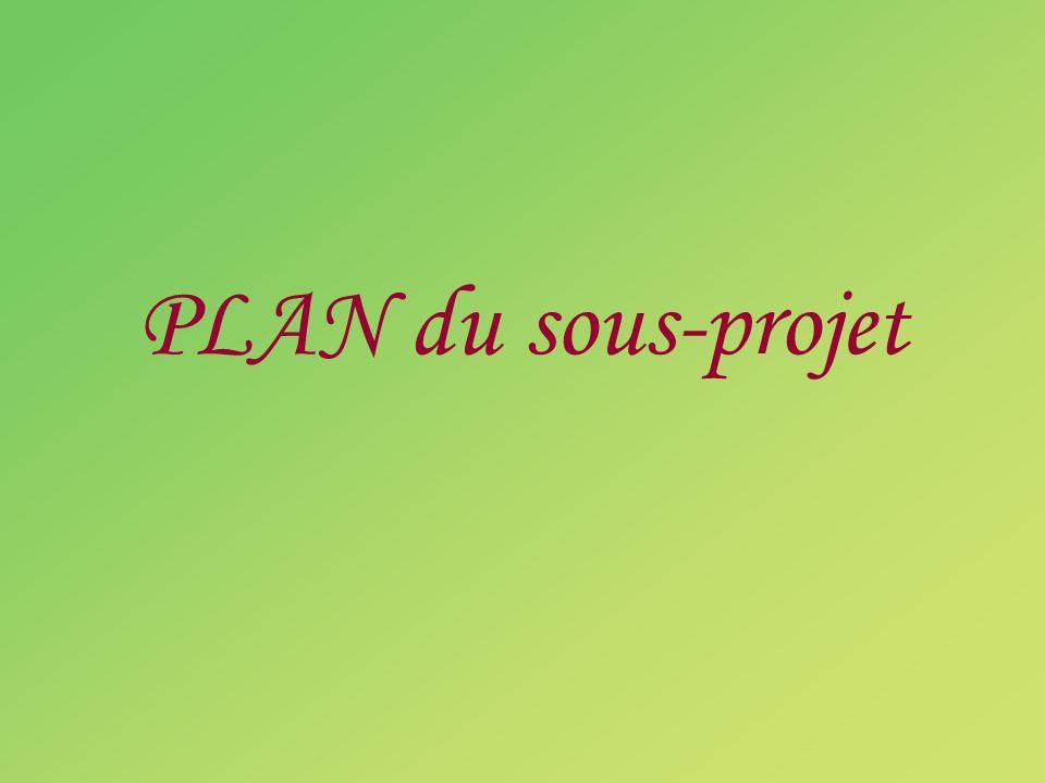 PLAN du sous-projet