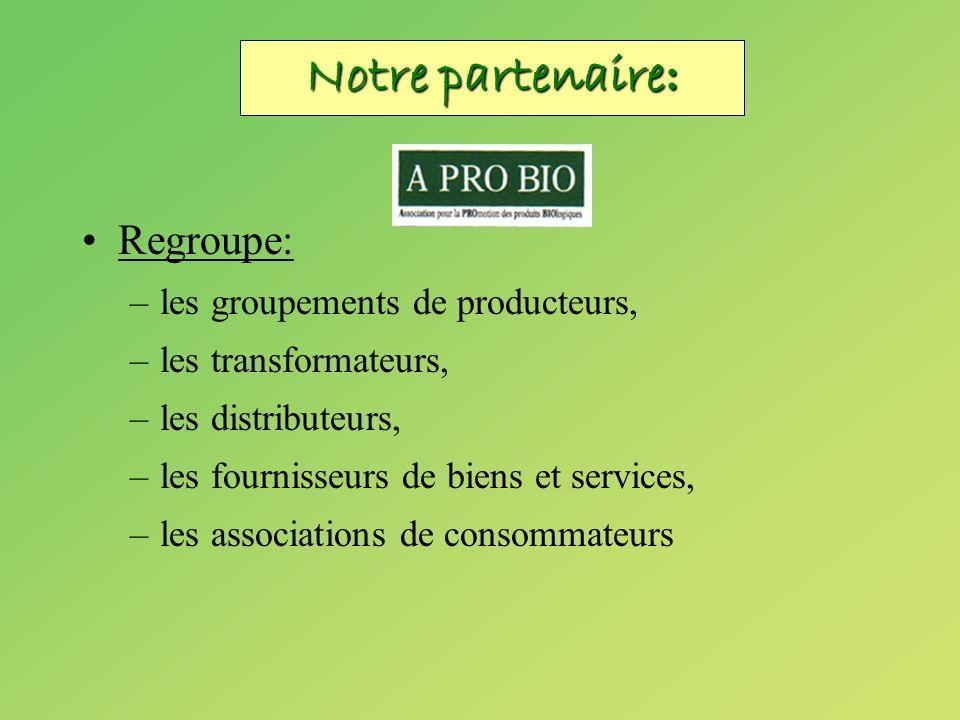 Regroupe: –les groupements de producteurs, –les transformateurs, –les distributeurs, –les fournisseurs de biens et services, –les associations de cons