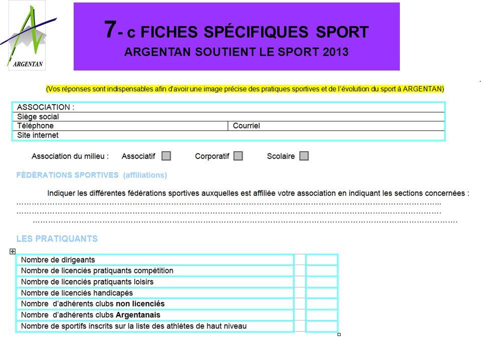 7 - c FICHES SPÉCIFIQUES SPORT ARGENTAN SOUTIENT LE SPORT 2013