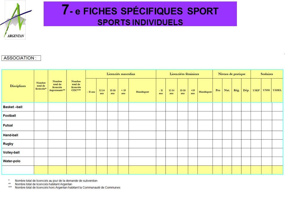 7 - e FICHES SPÉCIFIQUES SPORT SPORTS INDIVIDUELS