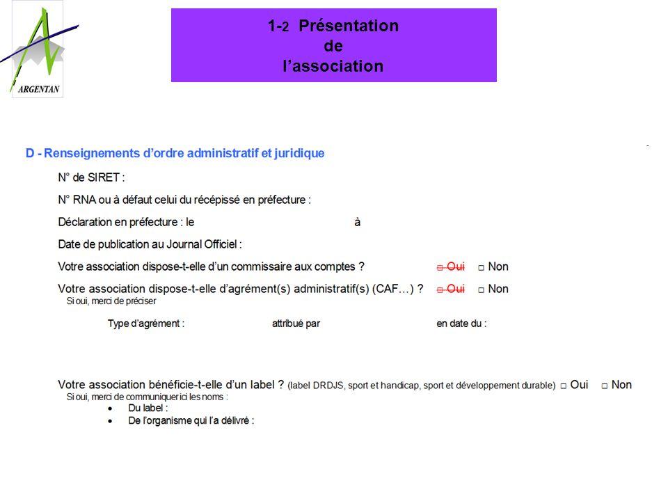 1- 2 Présentation de lassociation