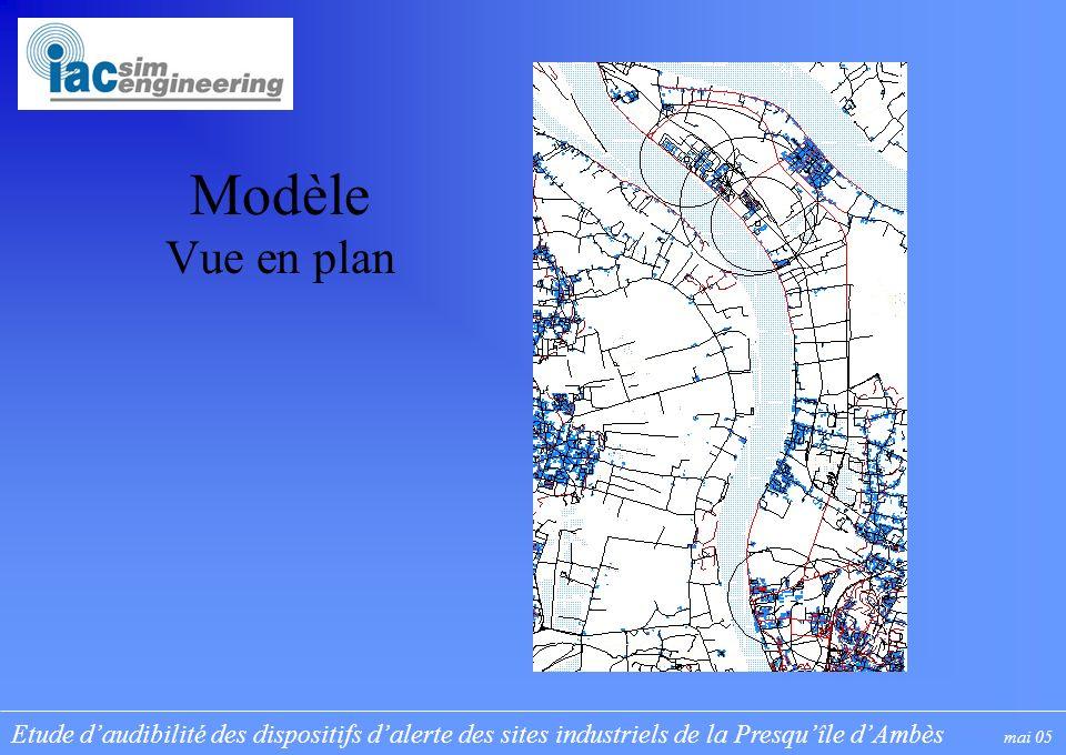 Etude daudibilité des dispositifs dalerte des sites industriels de la Presquîle dAmbès mai 05 Modèle Vue en plan