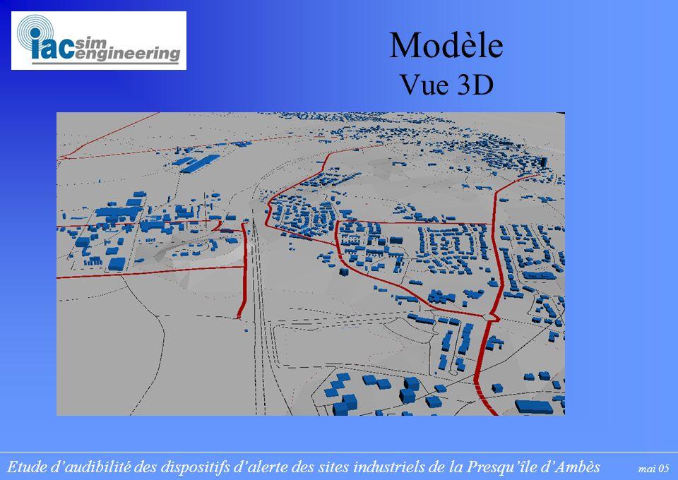 Etude daudibilité des dispositifs dalerte des sites industriels de la Presquîle dAmbès mai 05 Modèle Vue 3D