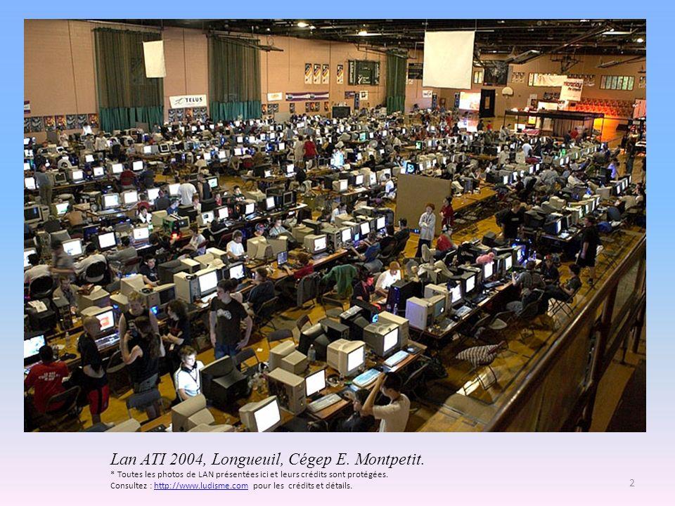 Lan ATI 2004, Longueuil, Cégep E. Montpetit. * Toutes les photos de LAN présentées ici et leurs crédits sont protégées. Consultez : http://www.ludisme