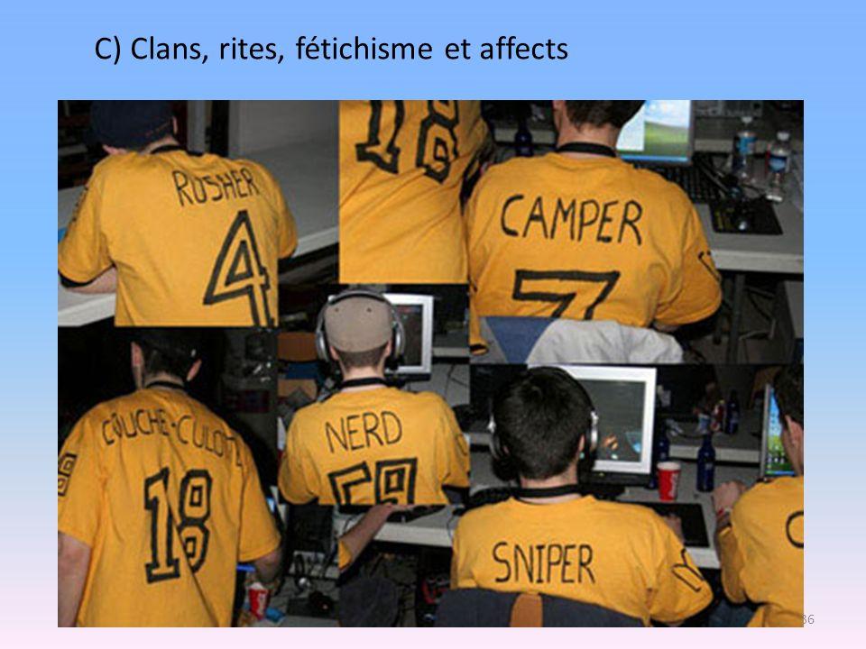 C) Clans, rites, fétichisme et affects 36